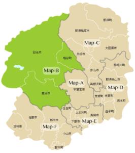 Map-B:日光市・鹿沼市・塩谷町